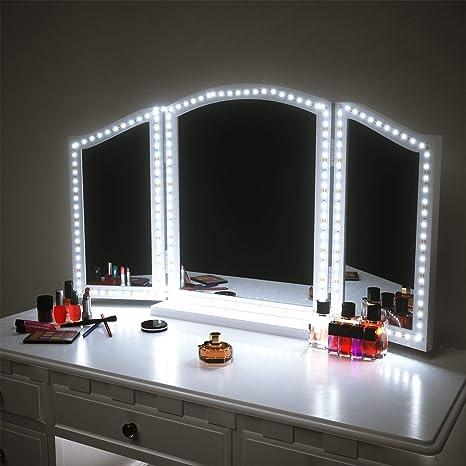 Led Vanity Mirror Lights For Makeup Dressing Table Vanity Set 13ft Flexible Led Light Strip Kit 6000k Daylight White With Dimmer And Power Supply Diy