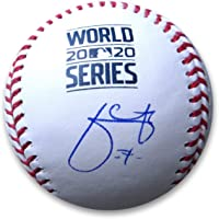 $160 » Julio Urias Signed Autographed 2020 World Series Official Baseball Dodgers MLB