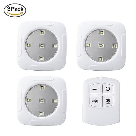3 unidades grifo luces LED luces funciona con pilas con mando a distancia inalámbrico stick-