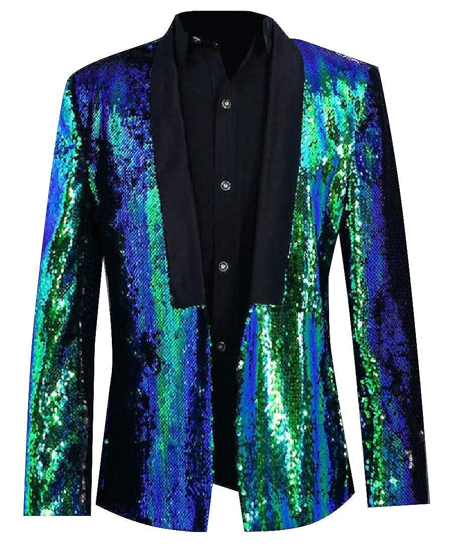 Sebaby Men Formal Metallic Shimmer Padded Regular Fit Short Blazer
