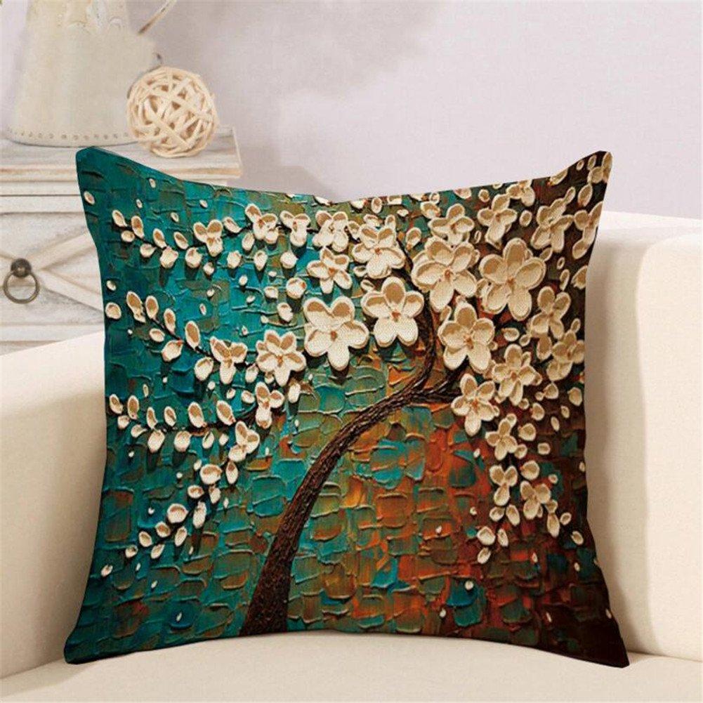 Amazon.com: Leagway Throw Pillow Case, Cotton Linen Cushion ...