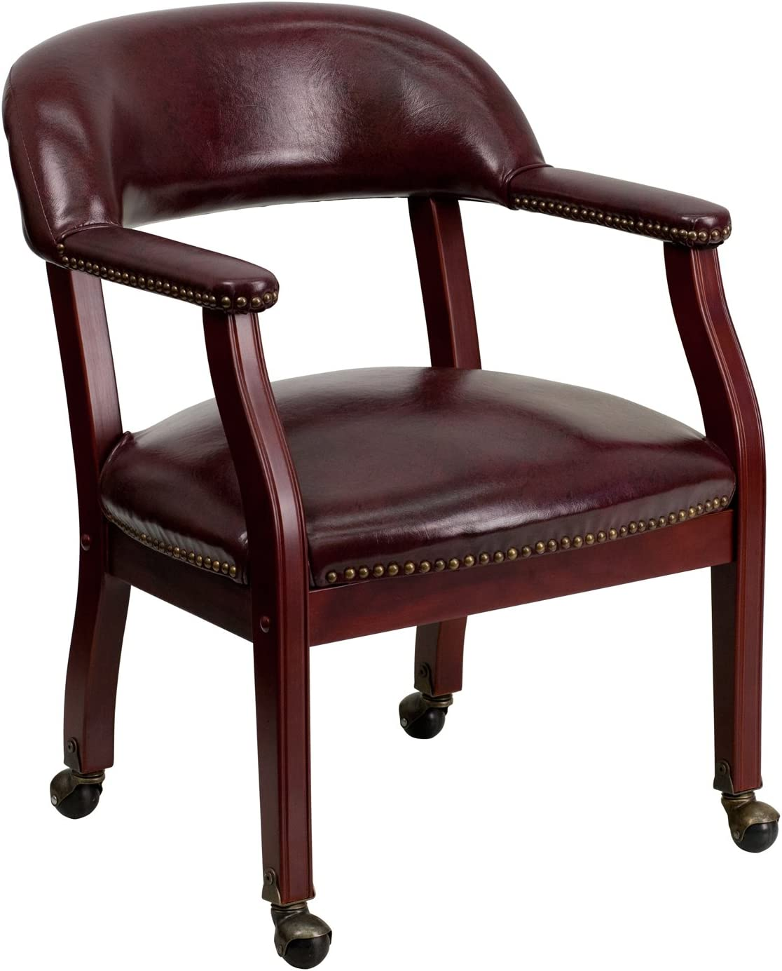 Flash Furniture Oxblood Vinyl Luxurious Conference Chair with Casters [B-Z100-OXBLOOD-GG]