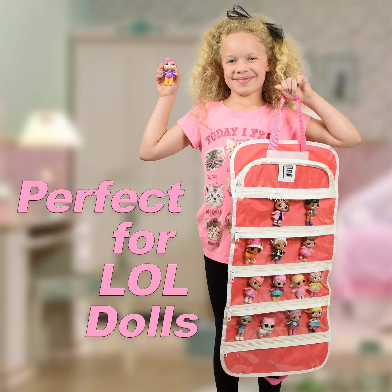 EASYVIEW Toy Storage Organizer Case Compatible Blume Doll Bundle Pink