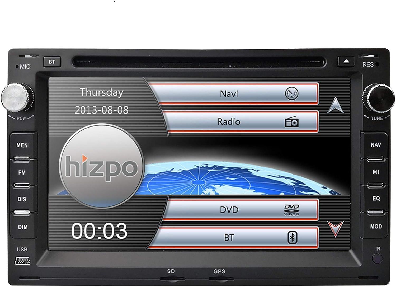 hizpo Reproductor de DVD con pantalla táctil de 7 pulgadas para coche, compatible con VW Volkswagen Passat Jetta CITI CHICO TRANSPORTER T5 Golf Polo ...