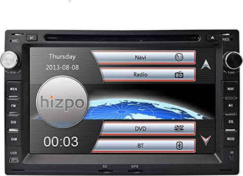 Hizpo - Radio con Pantalla táctil de 7 Pulgadas para salpicadero ...