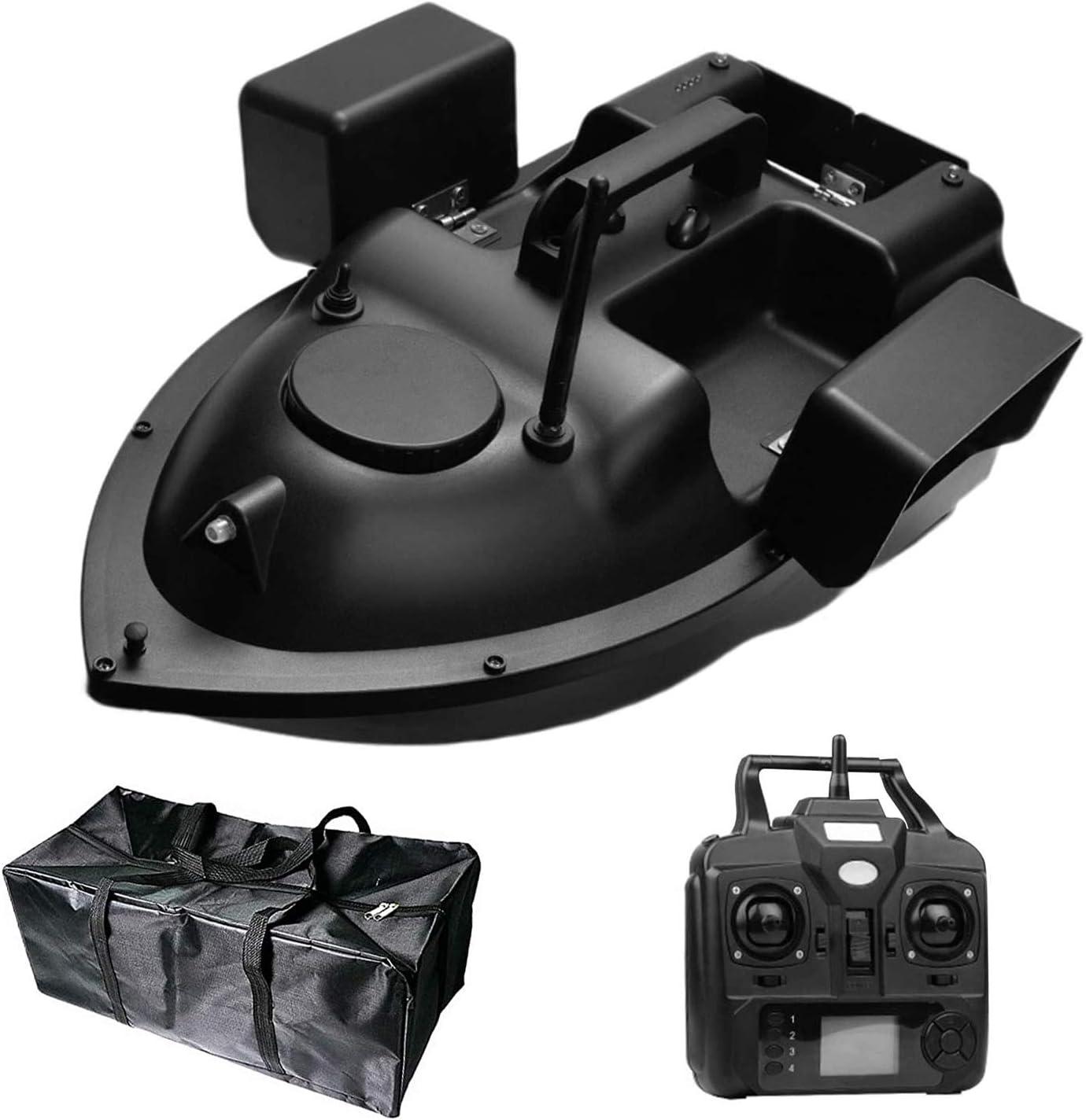 HAN XIU RC Pesca Bait Boat 500m Distancia GPS Bait Boat Control Remoto Pesca Barco de Cebo con Motores Dobles y Bolsa de Almacenamiento,Gps5200mah