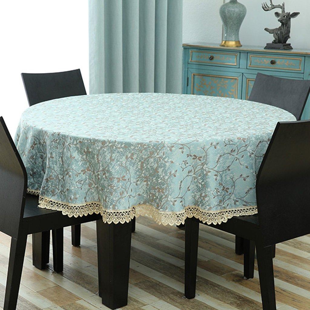 ラウンドテーブルクロステーブルクロスの布円形の家庭のダイニングテーブルクロス楕円形のリビングルームテーブルラウンドフローラル ( サイズ さいず : Diameter 260 cm ) Diameter 260 cm  B07CBTDVK2