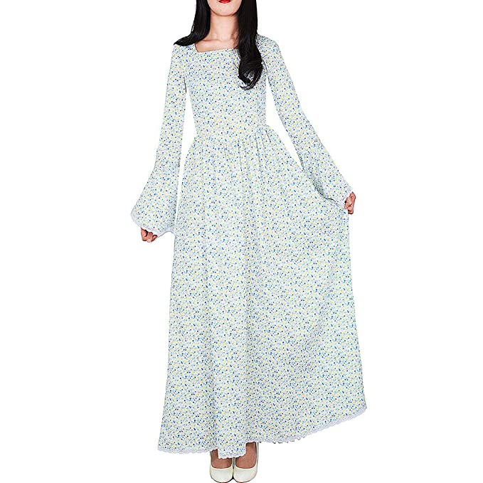 Loli Miss Women's Historical Prairie Dress Pioneer Colonial Costume  Victorian Civil War Dresses