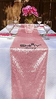 Shinybeauty 30cm X 275cm Pailletten Tischdeko Laufer Rose Gold
