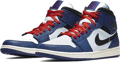 Amazon Com Nike Air Jordan 1 Mid Se 852542 400 Deep Royal Blue