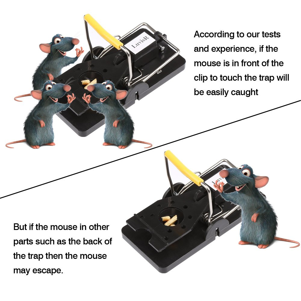 LuvisR Mouse Trap - Mice Trap The Mouse Catcher, Easy to Set Quick Kill Mice Catcher Device, Snap Traps(4 Pack)