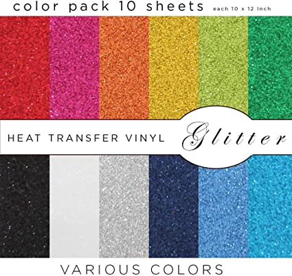 Starter Pack Of 10 Most... MiPremium PU Heat Transfer Vinyl HTV Iron On Vinyl