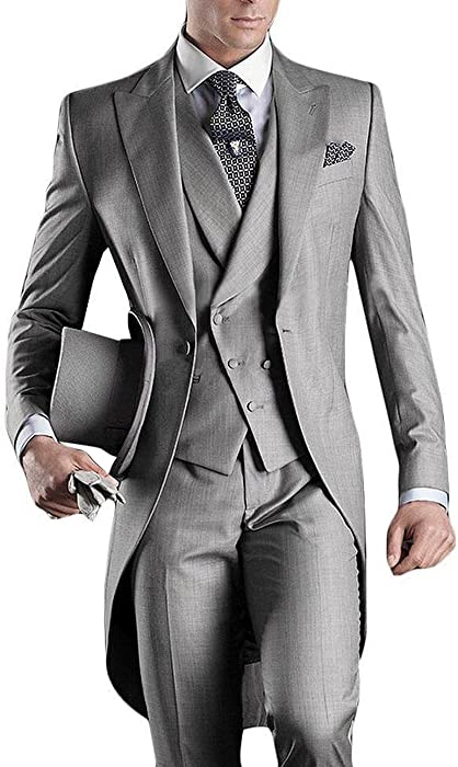 Suit Me Largos de 3 piezas trajes de esmoquin fiesta de la boda del juego  del juego conjunto de la ma ana de la chaqueta 60e96161dc2