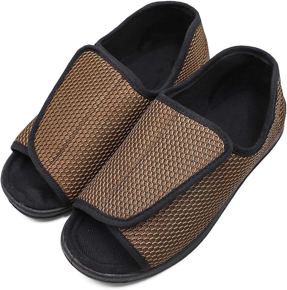 Mens Slippers Wide Width Open Toe Diabetic Arthritis Edema Swollen Feet House Shoes Indoor//Outdoor