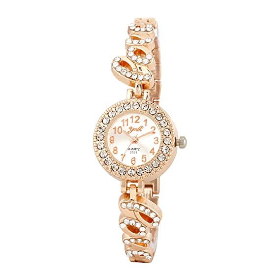 Buy Skylofts Cute Love Style Gold Plated Watches For Girls Birthday Gifts Girlfriend Women Online At Low Prices In India