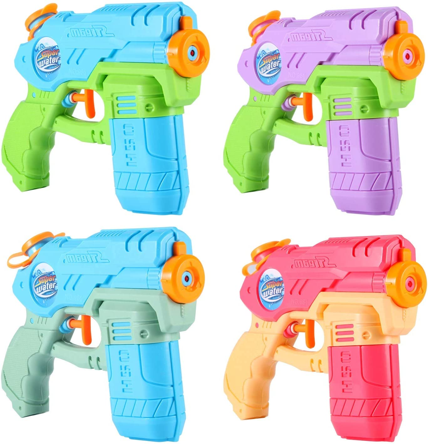 AESGOGO Squirt Water Guns for Kids Toddlers,Outdoor Water Toys for 3 4 5 6 7 8 9 Year Old Boys Girls Gifts,Summer Toys for Pool Yard Beach: Toys & Games
