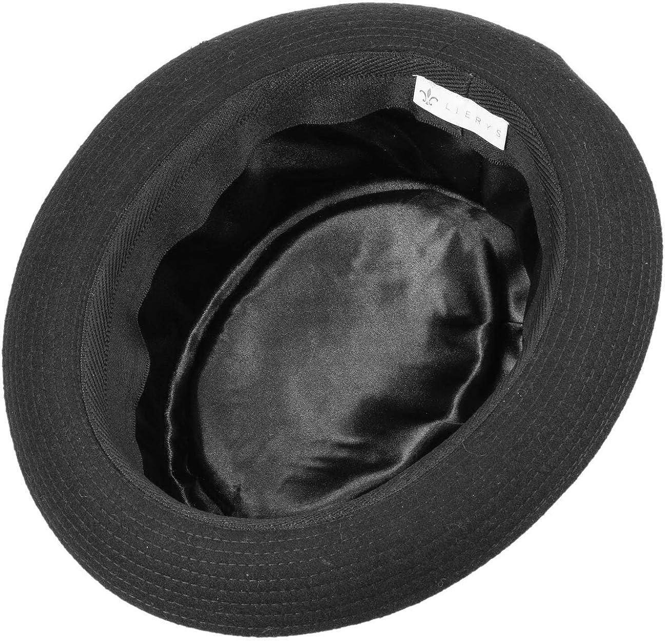 Lierys Panno Wool Pork Pie Filzhut Damen//Herren Hut Made in Italy Fedora Temperaturregulierend Wollfilzhut Herbst//Fr/ühling