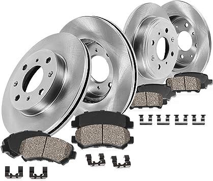 Fit 1994-2002 Mazda Miata Front Sport Drill Slot Brake Rotors+Ceramic Brake Pads