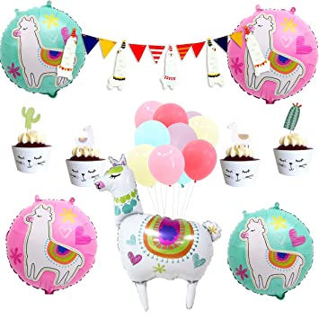 c35cddf9a189f Amazon.com: Llama Party Supplies, Llama Fiesta Party Decorations for ...