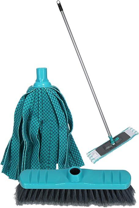 Set GB800 + Panno in Microfibra Universale Green Blue Mocio Rotante Lavapavimenti con Accessori cestello in Metallo