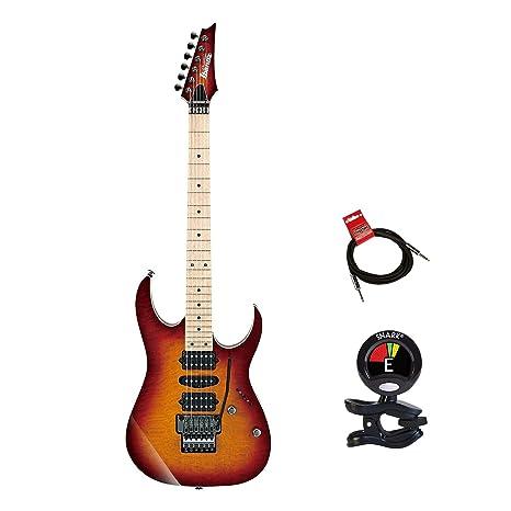 Ibanez rg657mskstb RG Prestige 6 cuerdas Guitarra eléctrica paquete en puesta de sol Burst con guitarras