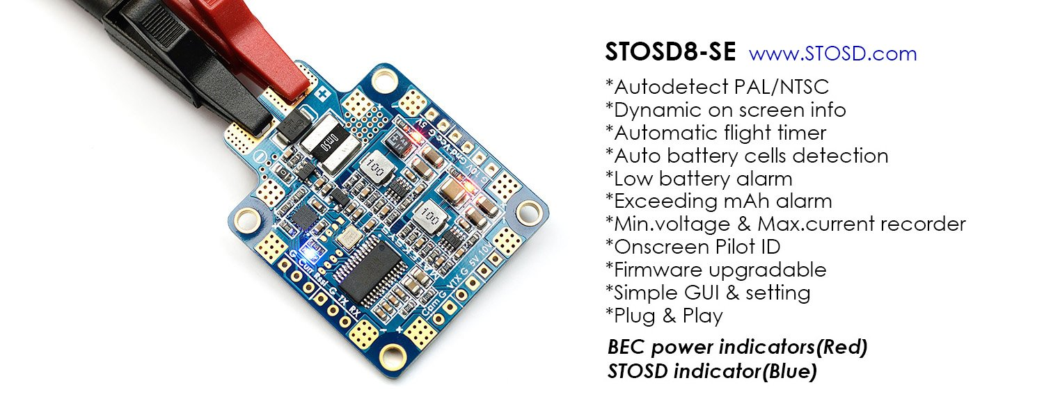 Matek Systems Hubosd8 Se Pdb Osd Power Distribution Precision Receiver Battery Low Voltage Alarm Board Dual Bec 3s 6s Supported 184a Current Sensor For Fpv Rc Drone And Crazepony Strap