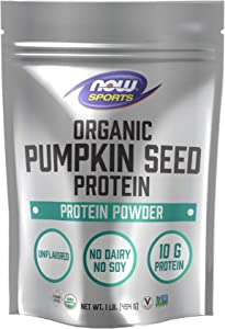 Now Natural Foods, Organic Pumpkin Seed Protein Powder, unflavored, 16 Ounce
