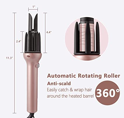 Amazon.com: DORISILK IVI Automatic Hair Curler, Tourmaline Ceramic Auto Curling Iron Wand with 360 Rotating Roller, Easy Use Fast Styling Tools, ...