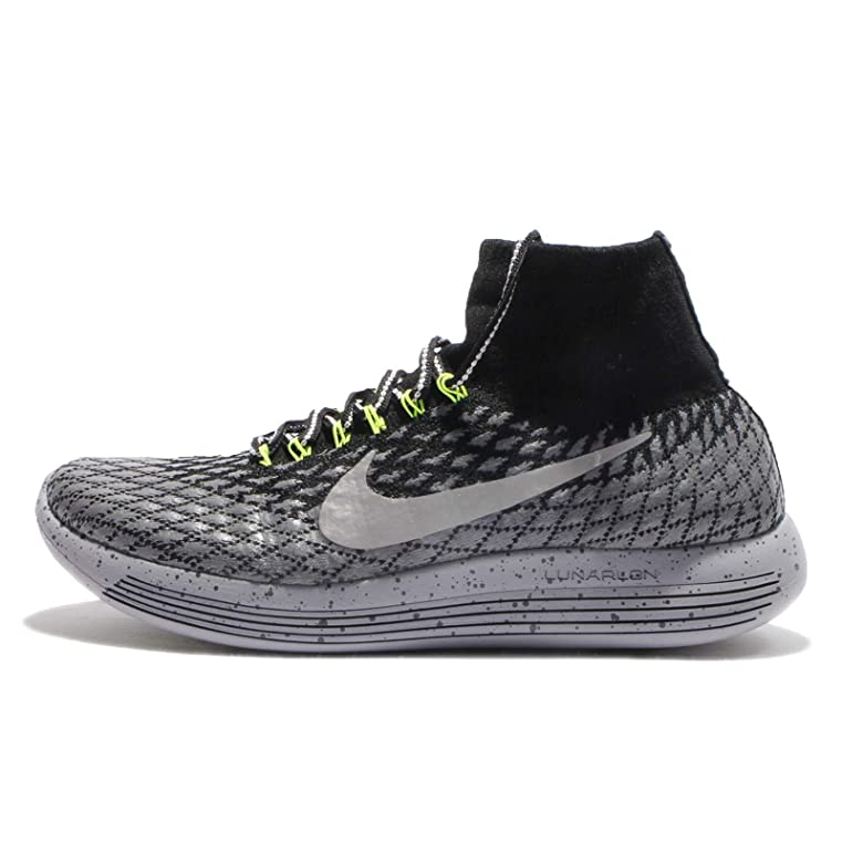 Amazon.com | Nike Men's LunarEpic Flyknit Shield, BLACK/METALLIC SILVER, 13  M US | Running