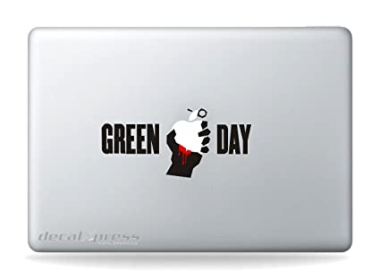 Rock band green day sticker decal macbook air pro all models