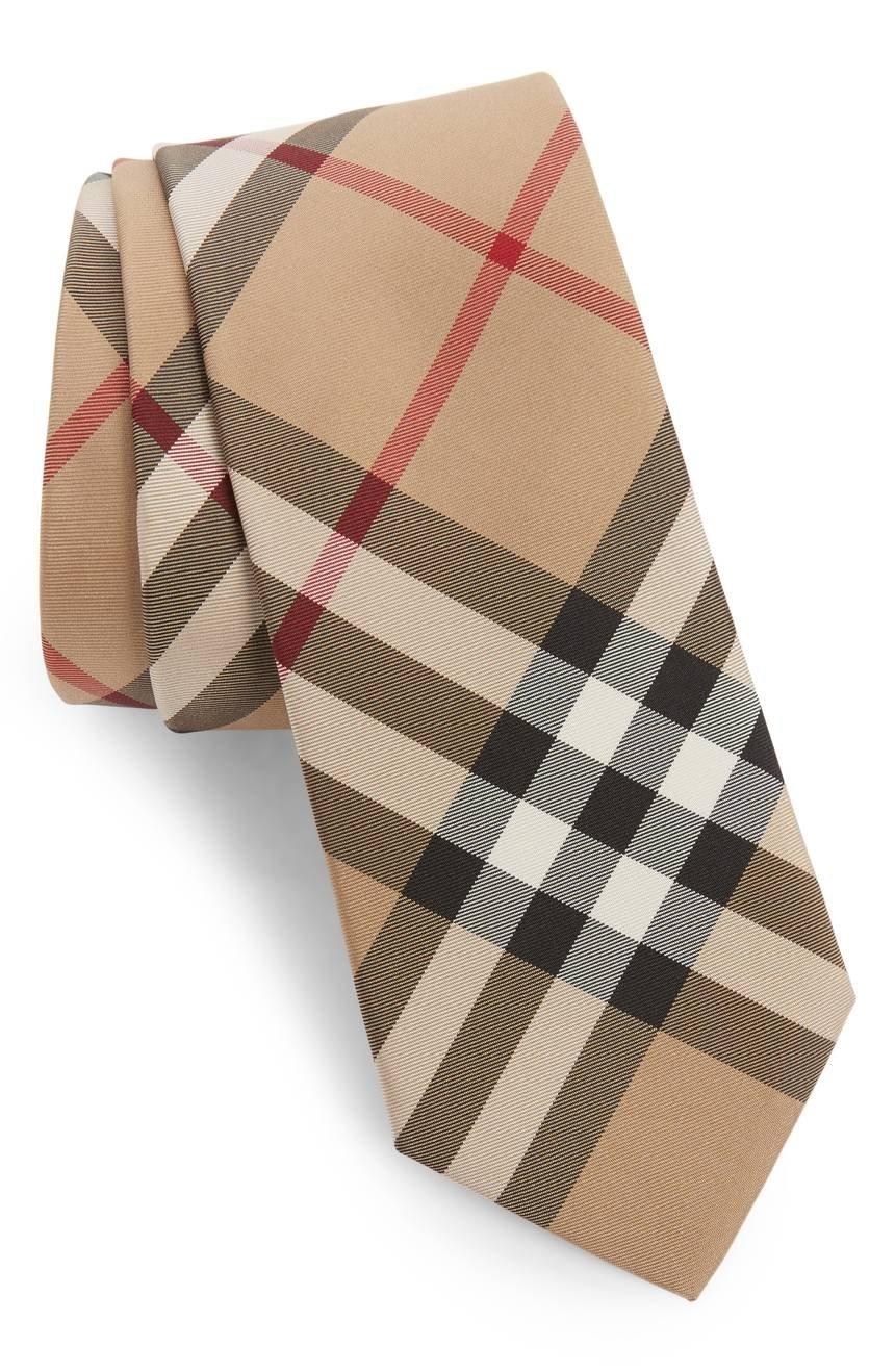 Burberry Manston Check Silk Men's Tie