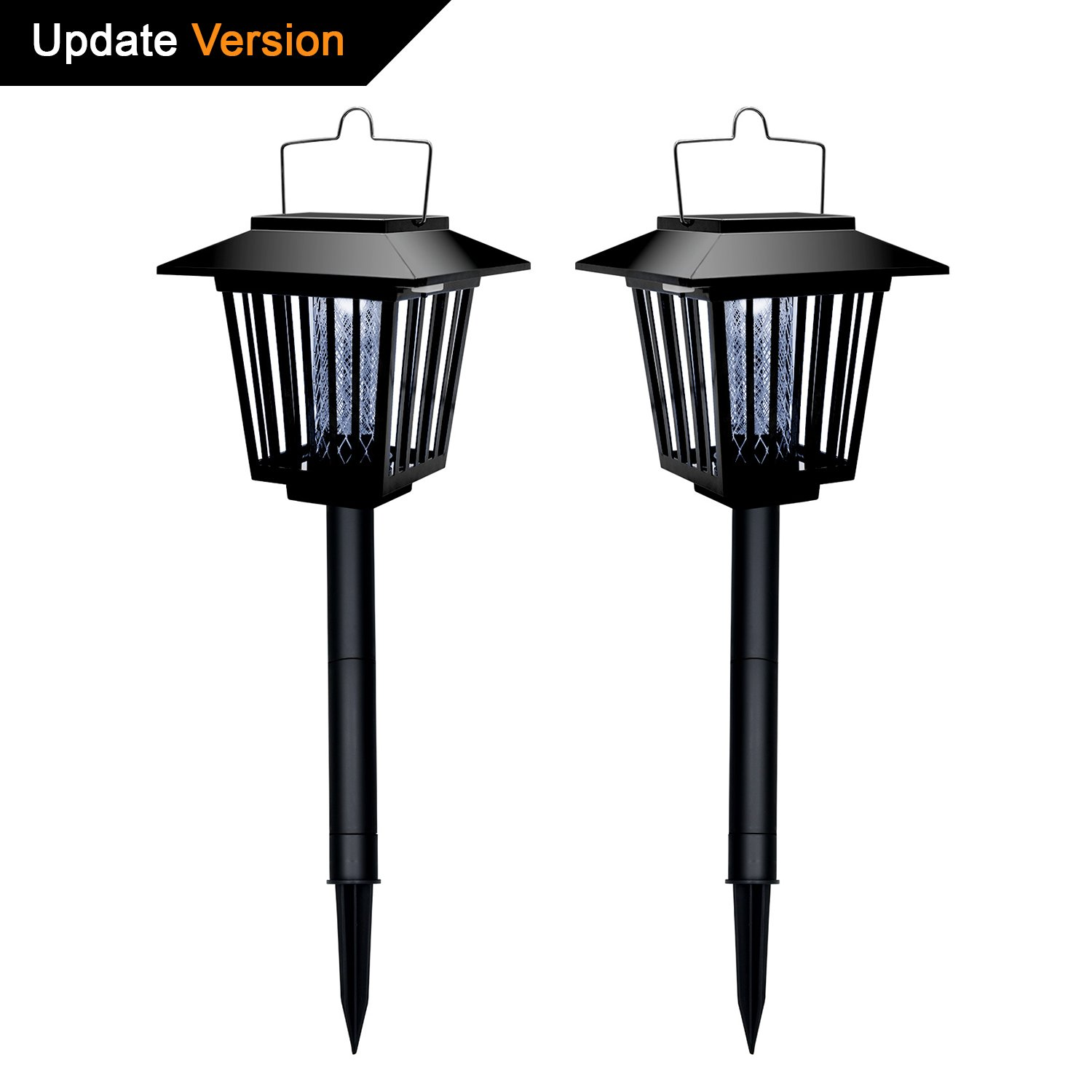 Wsky Upgraded Led Solar Pathway Garden Lights Outdoor, Bug Zapper Solar Landscape Light, Auto On/Off, Best for Lawn, Patio, Deck, Yard, Walkway, Driveway by Wsky