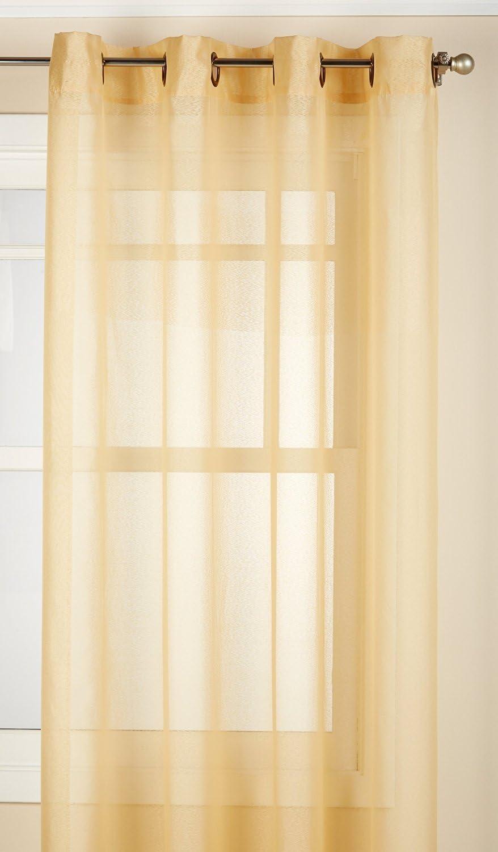 LORRAINE HOME FASHIONS Reverie Window Curtain Panel, 60 x 95, Gold
