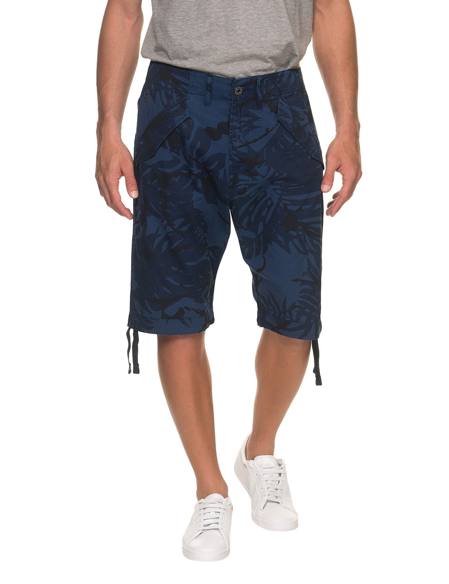 G-Star Men's Rovic Dc Loose Men's Cargo Shorts With Camo Print in Size 31 Blue