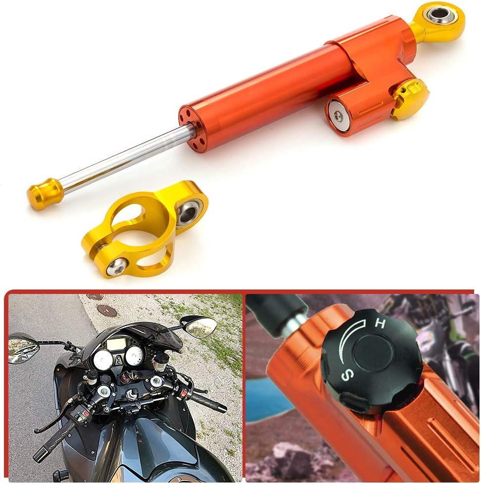 Universal Steering Damper Stabilizer Linear Reversed Safety for Street Bike