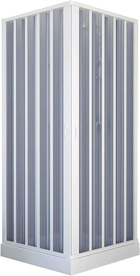 Mampara de ducha de 75 x 75 cm de dos lados plegable, apertura central, de PVC H185: Amazon.es: Bricolaje y herramientas