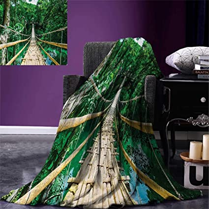 Amazon com: Tropical Weave Pattern Extra Long Blanket Bamboo
