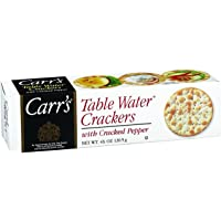 CARR's Table Water Crackers with Cracked Pepper, 125 Gram