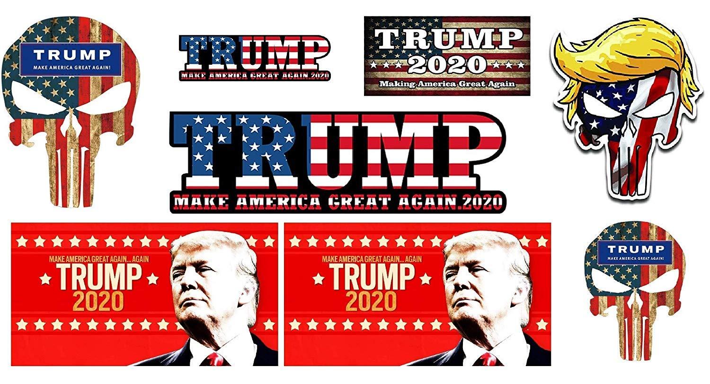 "Trump 2020 President Keep America Great Sticker 5/"" Decal Bumper Made in USA"