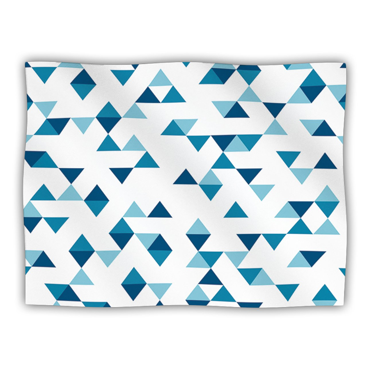 Kess InHouse Project M 'Triangles bluee' Navy White Dog Blanket, 40 by 30-Inch