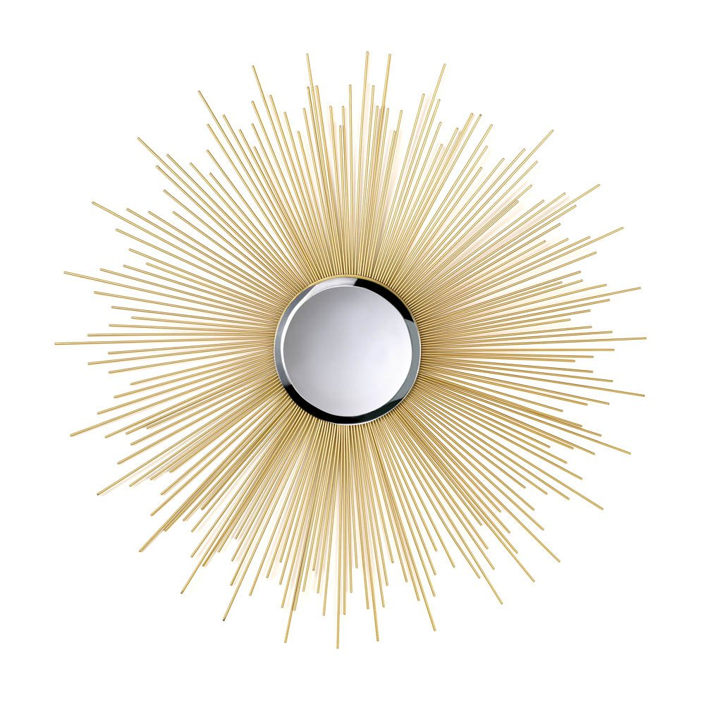 Zingz & Thingz 10015862 Golden Rays Mirror for Home, Office, Spa, Weddings, Party, or Special Occasions