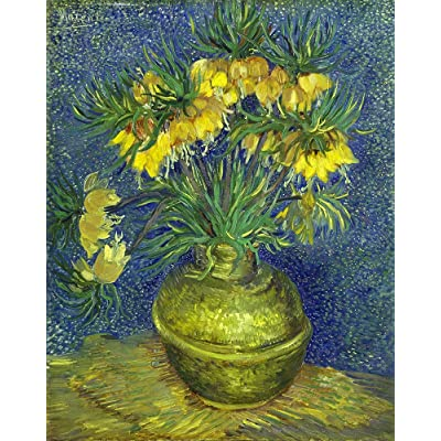DDTOP Vase of Flowers Puzzles for Adults, Hardest Van Gogh Oil Painting Crown Fritillary Flower in Copper Vase 1000 Jigsaw Puzzles, Challenge Yourself with Famous Art Puzzle: Toys & Games