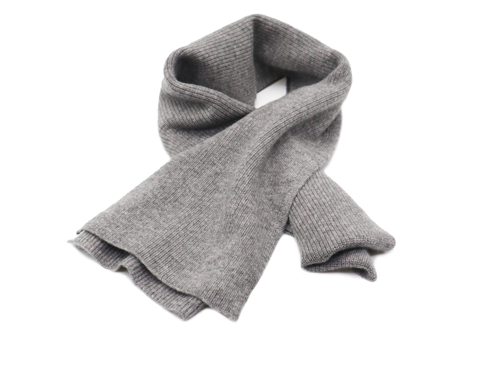 State Cashmere Men's 100% Cashmere Solid Color Winter Wrap Scarf, Ultimate Soft and Cozy 70'' x 7''