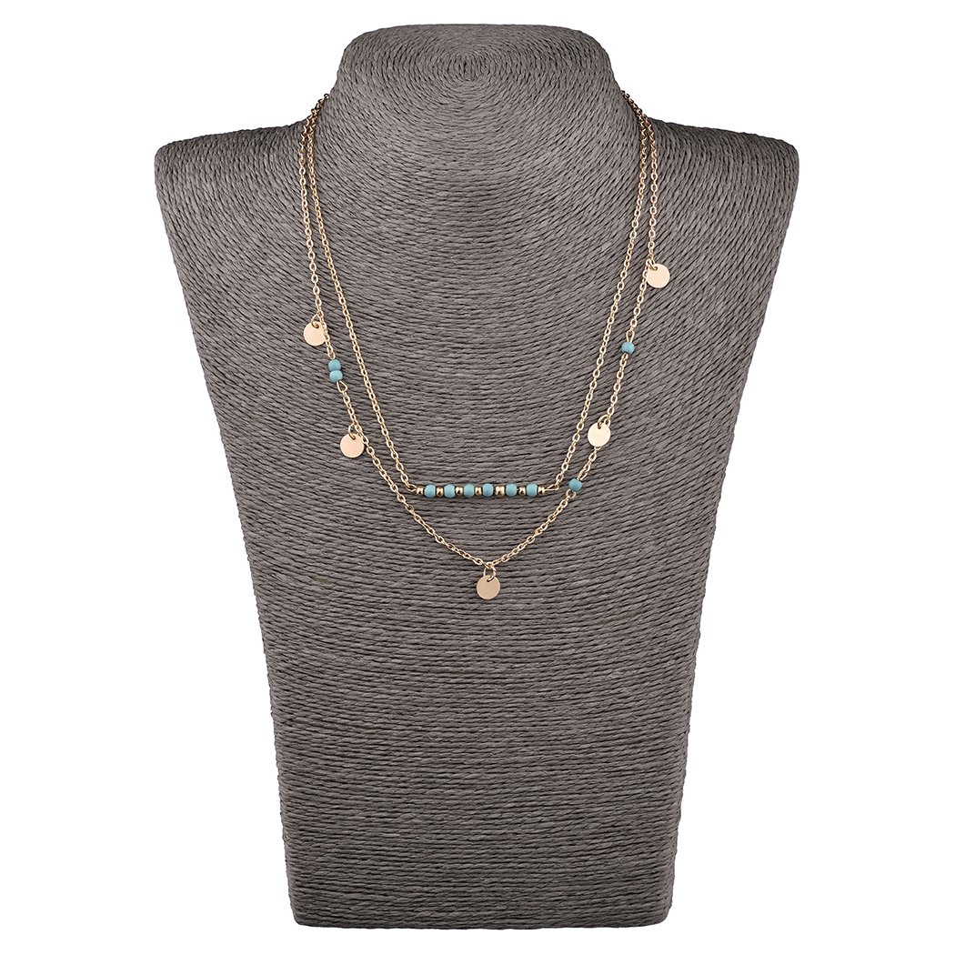Mother's Day Gift- 5 PCS Long Lariat Y Chain Necklace Set Simple Bohemia Multilayer Pendant for Women by Angelus (Image #5)