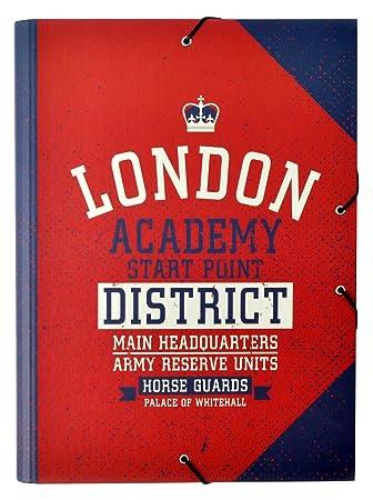 Grupo Erik Editores Carpeta Solapas London Colour: Amazon.es: Oficina y papelería