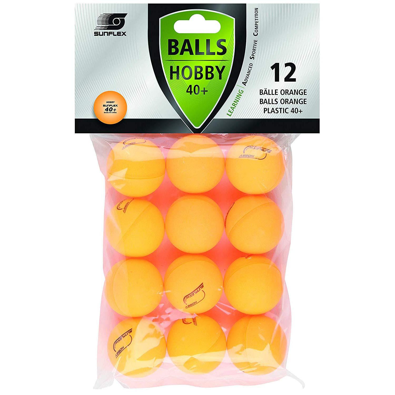 Sunflex Adultos Mesa - Pelotas de Tenis Hobby 12pieza, Naranja, M ...