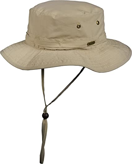 63f308f1 Amazon.com: Stetson No Fly Zone Insect Shield Nylon Boonie with Chin ...