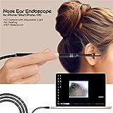Cámara Endoscopio,Cuchara de Oreja,WiFi HD Cámara de Inspección Inalámbrico USB-IP67 Impermeable-Compatible Con Android/IOS/PC-Para Observar el Tímpano/Boca/Encías/Garganta/Cavidad Nasal, Etc.