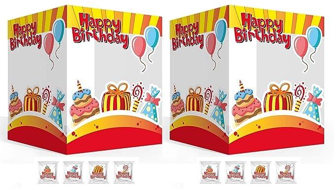 Marshmallow - Feliz Cumpleaños - 2 x 60 pz: Amazon.es ...