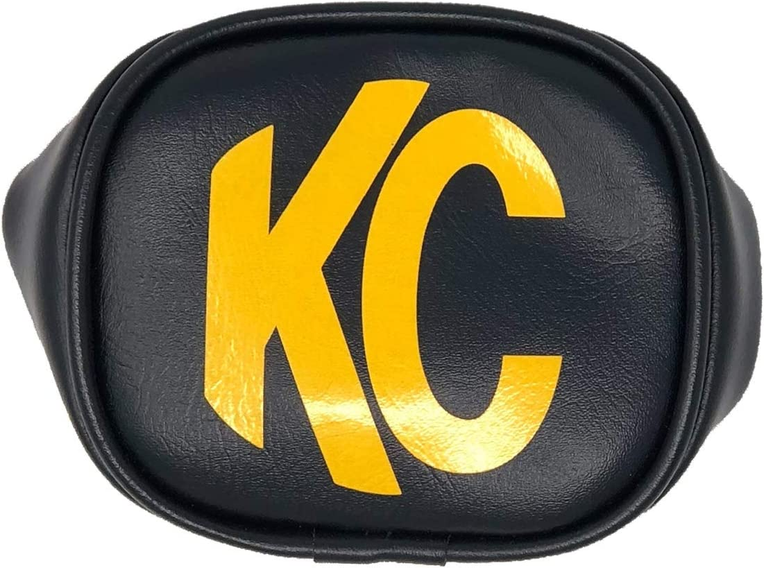KC Hilites 5802 8 Round Black with Yellow KC Soft Light Covers-Pair